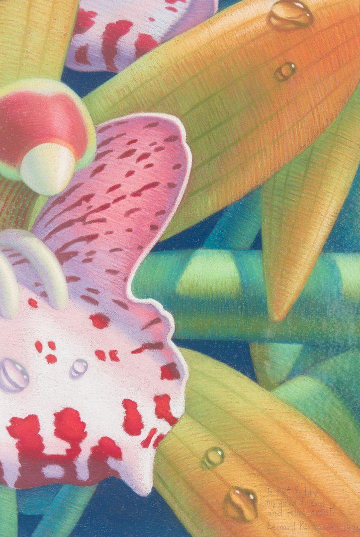 Lot 534: Leonard Koscianski Pastel Painting, Cymbidium Orchid