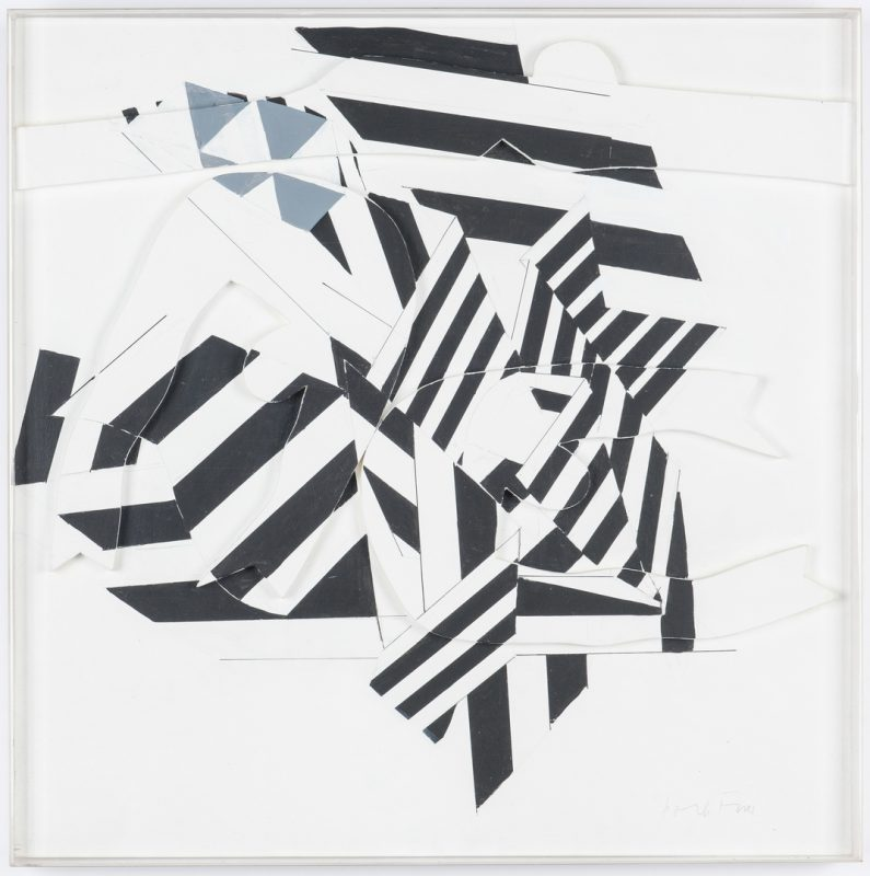 Lot 535: Perle Fine Black & White Collage, Encounter