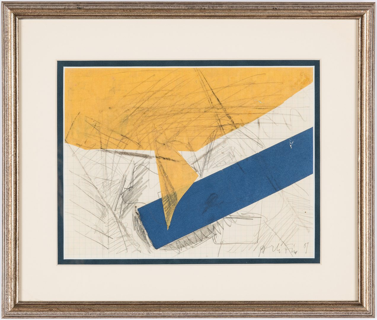 Lot 536: Perle Fine Small Abstract Collage