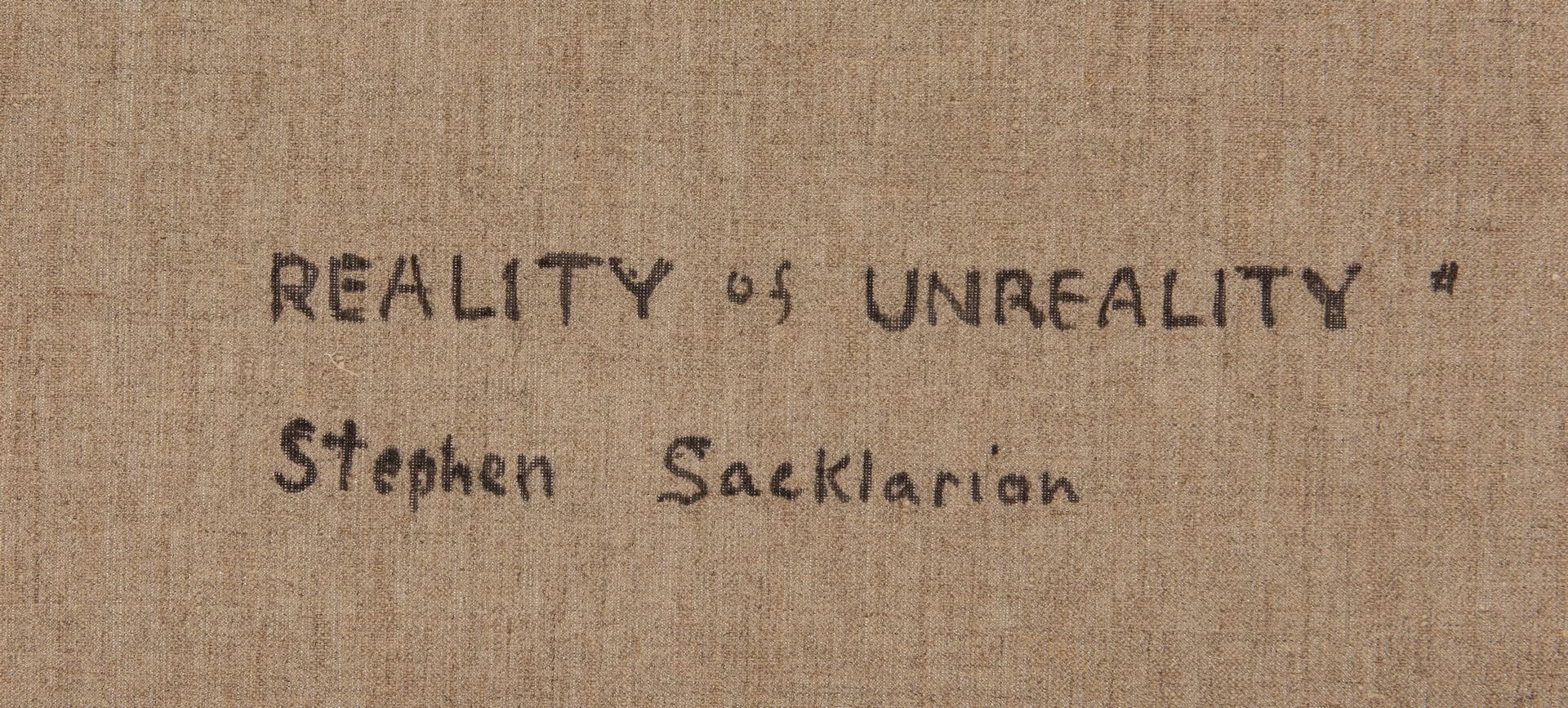 Lot 542: Reality of Unreality (E-9) by Sacklarian