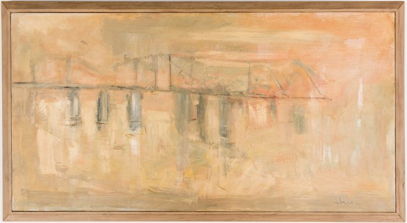 Lot 545: Marjorie Liebman, oil painting, Bridge