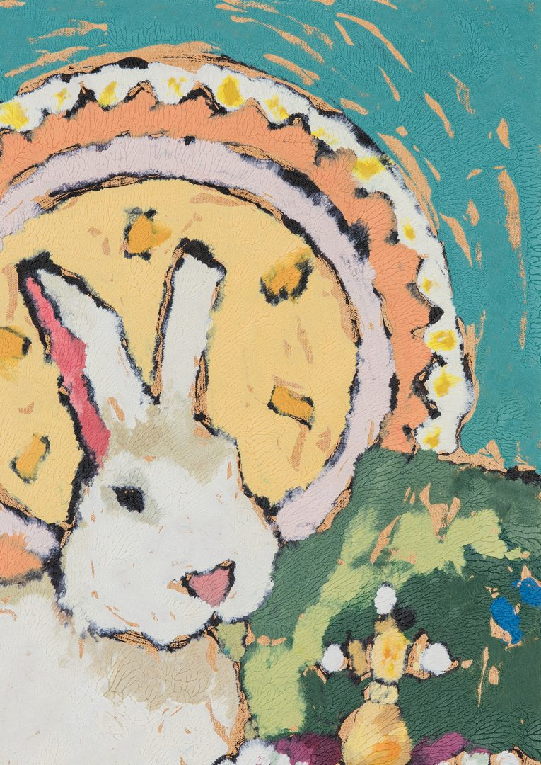 Lot 546: Anna Jaap, Rabbit and Crown Painting