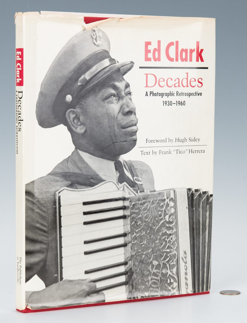 Lot 548: Signed Ed Clark Paris Photo and book