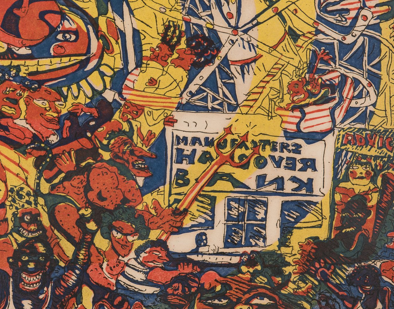 Lot 549: 2 Red Grooms Works on Paper, incl. Coney Island
