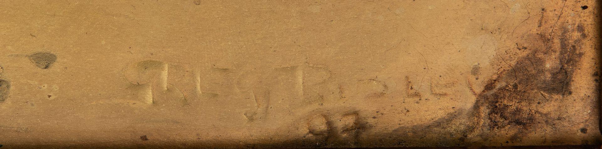 Lot 551: Greg Ridley Gilt Copper Panel, Appomattox Surrender