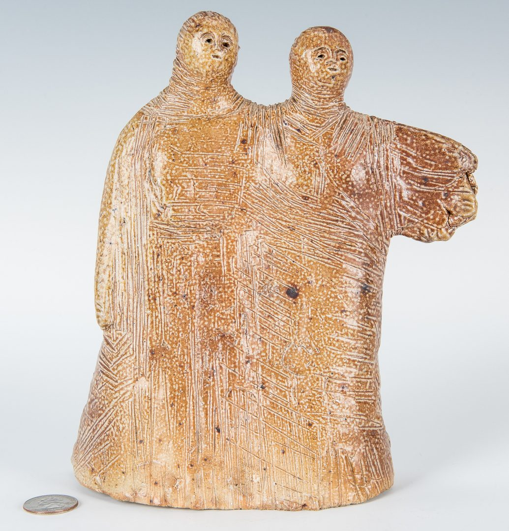 Lot 554: Olen Bryant Ceramic Sculpture, Figures
