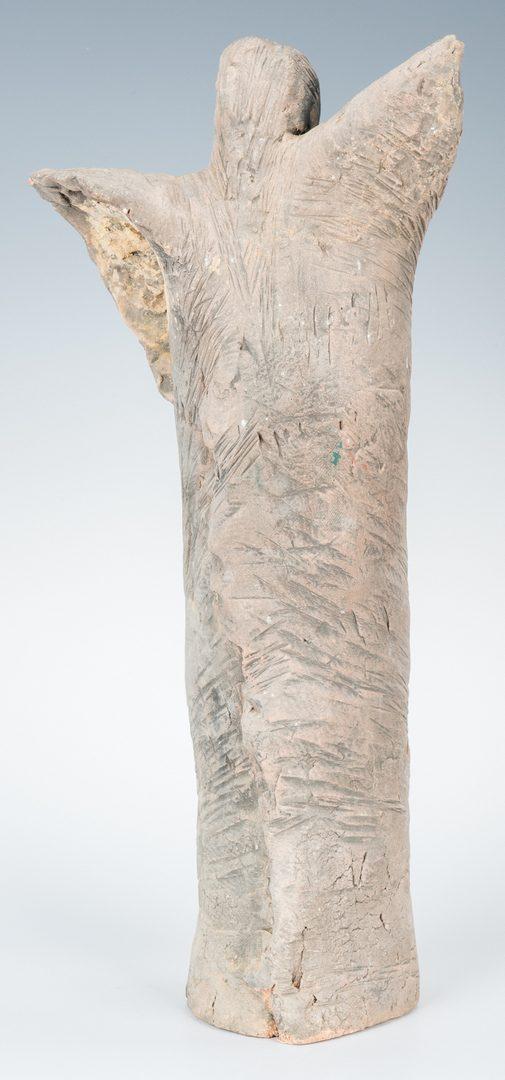 Lot 555: Olen Bryant Sculptures, Angel & Sleeping Stone