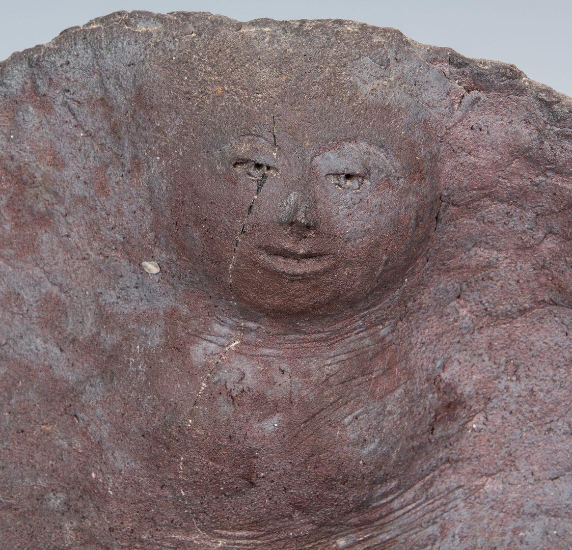 Lot 556: Olen Bryant Purple Shell and Figure Sculpture
