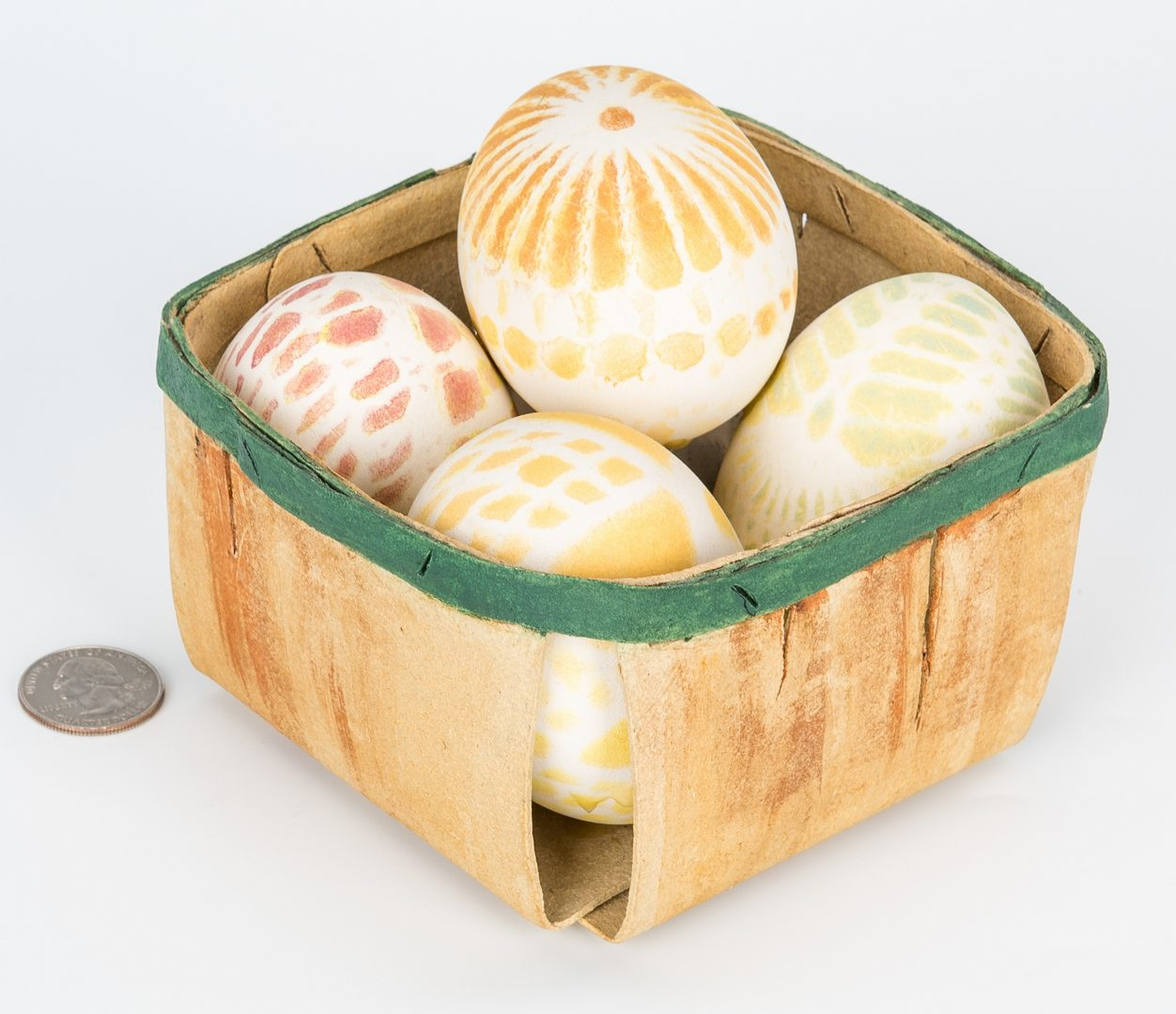 Lot 557: Sylvia Hyman Egg Basket tromp d'oeil sculpture