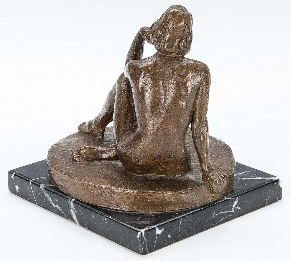 Lot 558: Alan LeQuire Bronze, Seated Nude