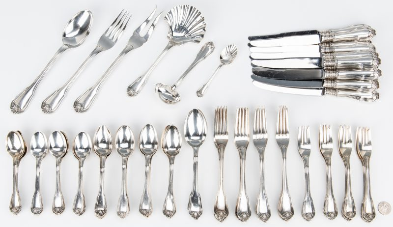 Lot 55: Buccellati Sterling Flatware, Borgia Pattern