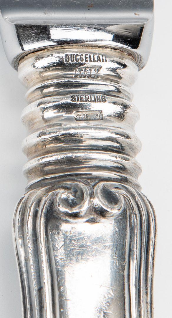 Lot 55: Buccellati Sterling Flatware, Borgia Pattern