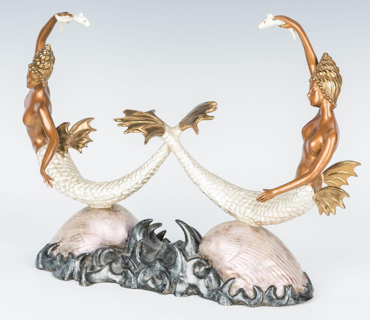 Lot 561: Erte Bronze Sculpture, Sirens