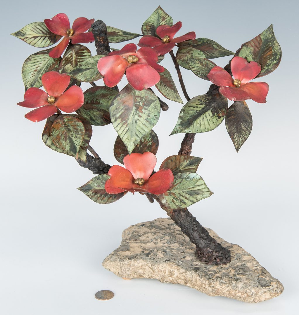 Lot 565: John Steck Bronze Floral Sculpture