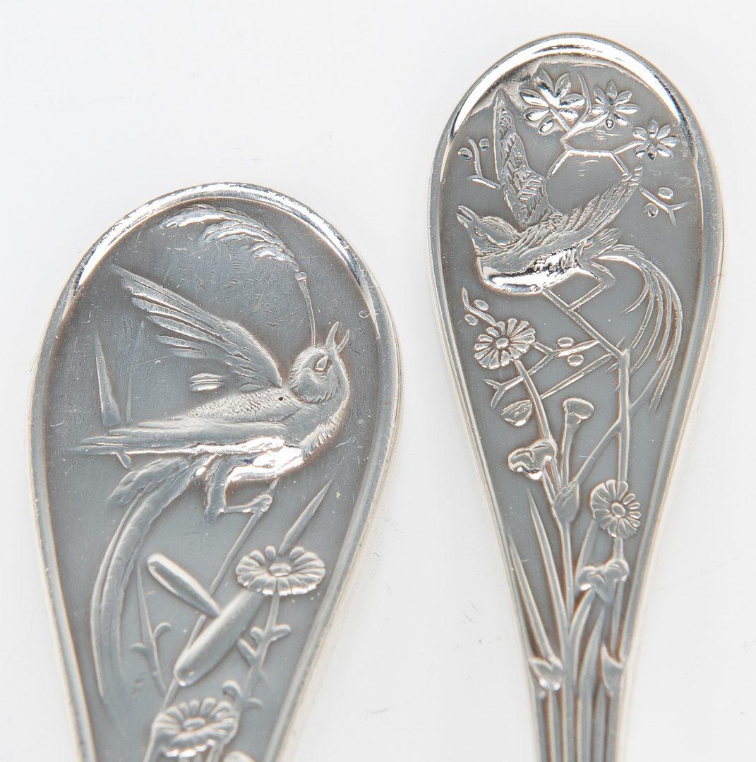 Lot 56: Tiffany Audubon Flatware, 59 pcs
