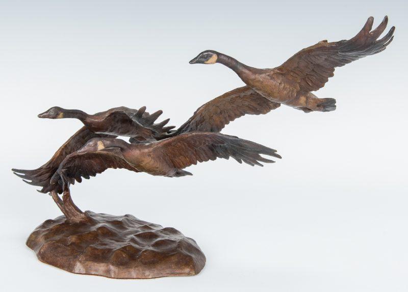 Lot 570: Jonathan Bronson, Bronze Bird Sculpture
