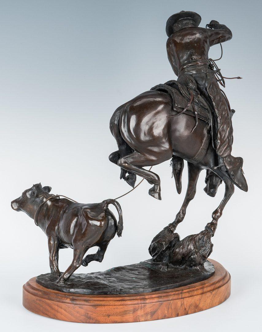 Lot 571: Linda S. Stewart Bronze Cowboy