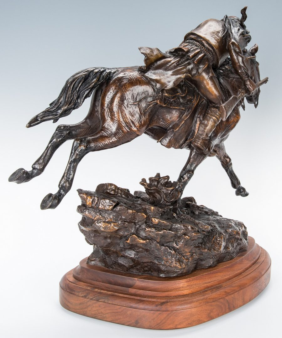 "Lot 572: Susan Kliewer Bronze Sculpture, ""Elusive as the Wind"""