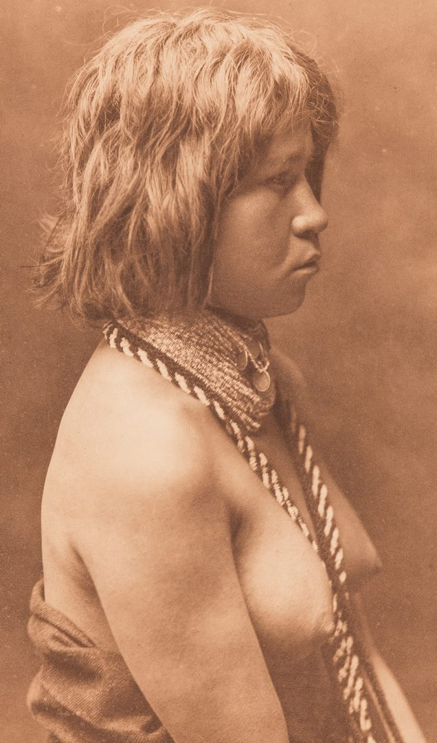 Lot 573: Photogravure After Edward Curtis, Judith-Mohave