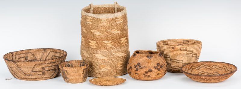 Lot 578: 7 Native American Baskets