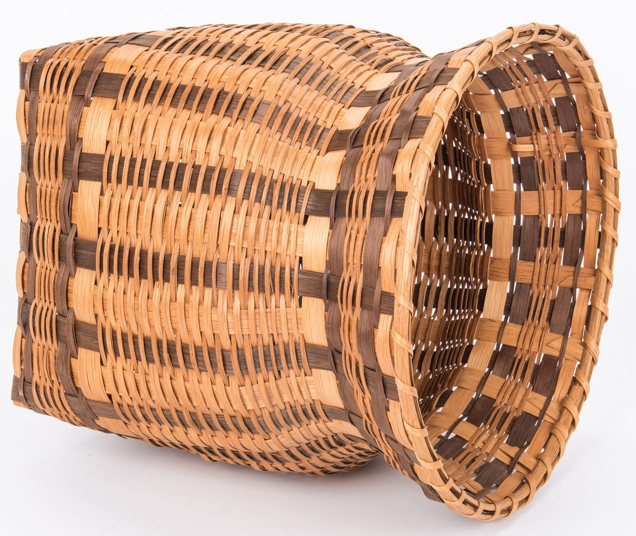Lot 580: 7 Native American Cherokee Baskets