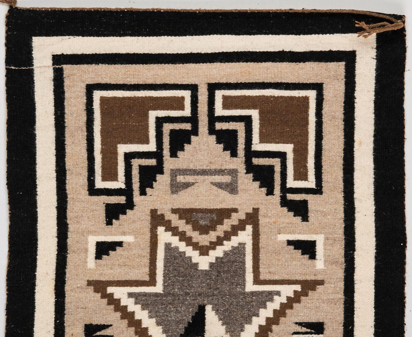Lot 582: 4 Navajo Rugs, Eye Dazzler & 2 Grey Hills