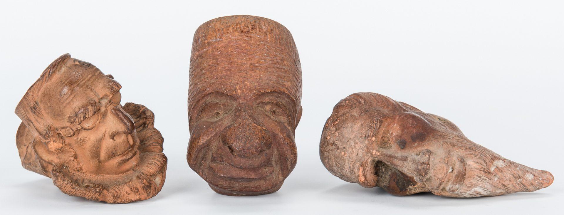 Lot 585: 3 Figural Pipe Bowls, incl. Payrau