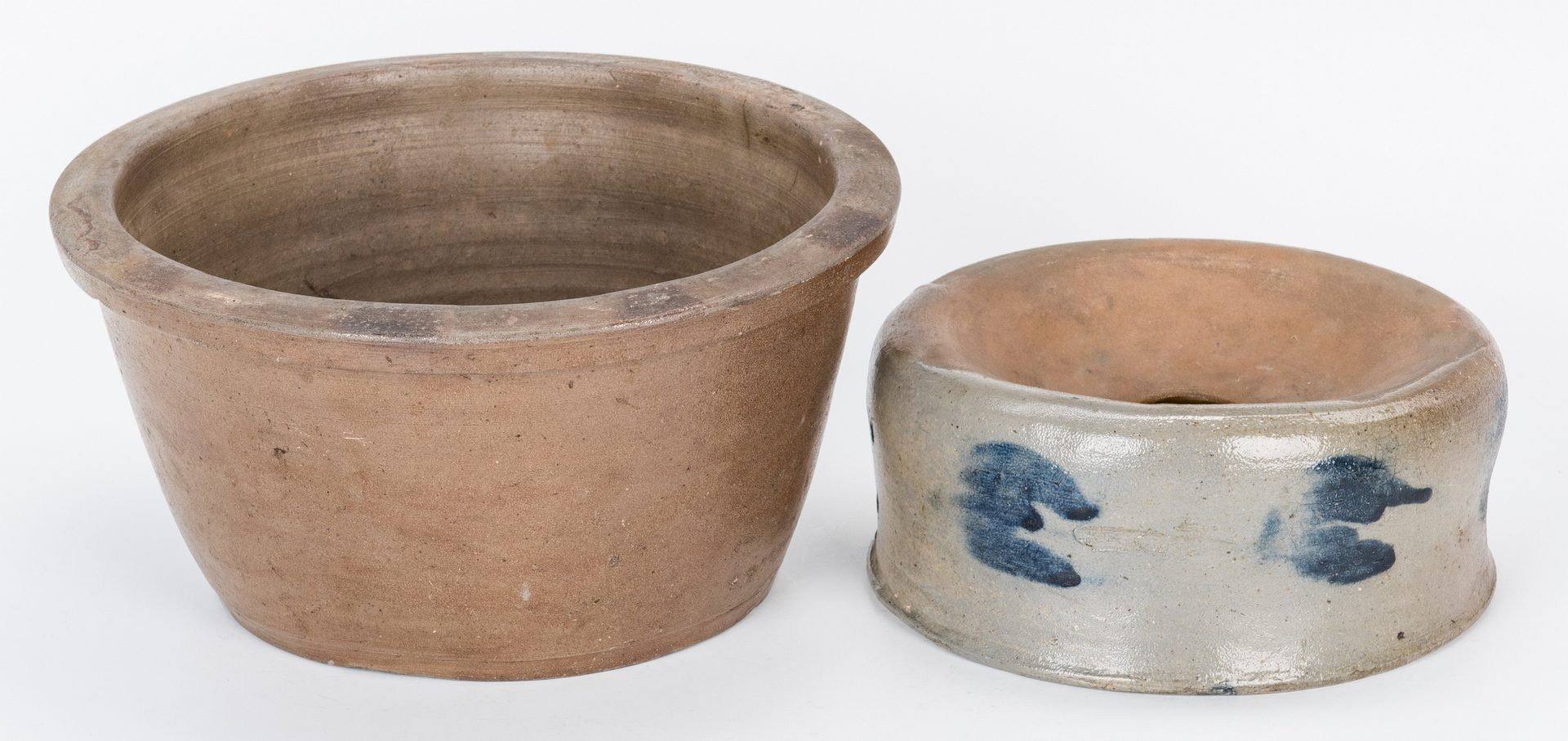 Lot 587: 5 PA & MD Decorated Stoneware Pottery Items