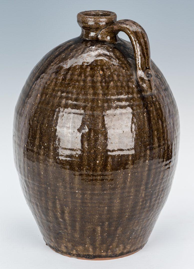 Lot 588: Western NC Nelson Bass Pottery Jug