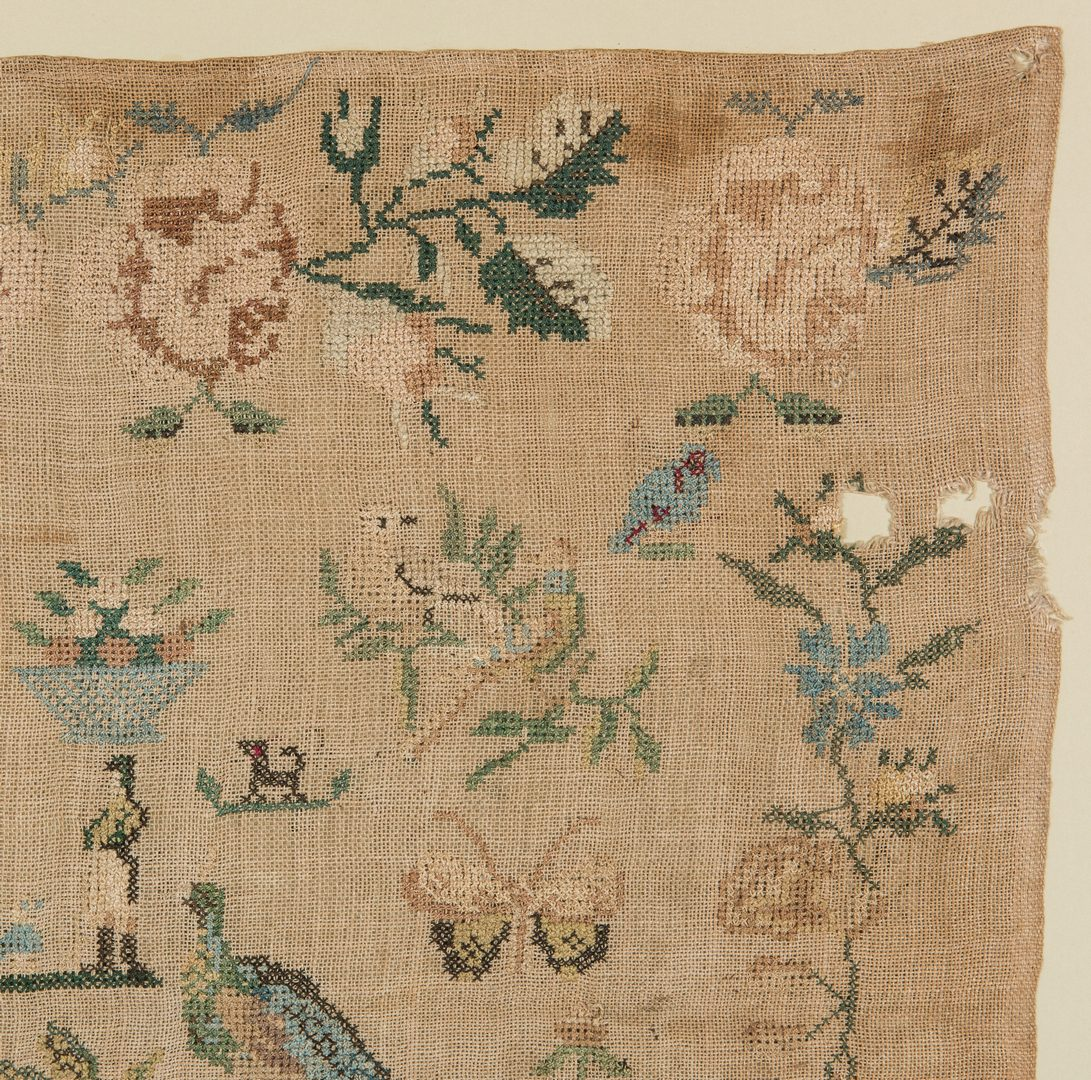 Lot 592: Tennessee Sampler by Mary Martin, 1838