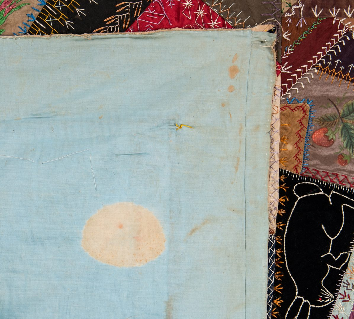 Lot 593: Tennessee Crazy Quilt, c. 1875