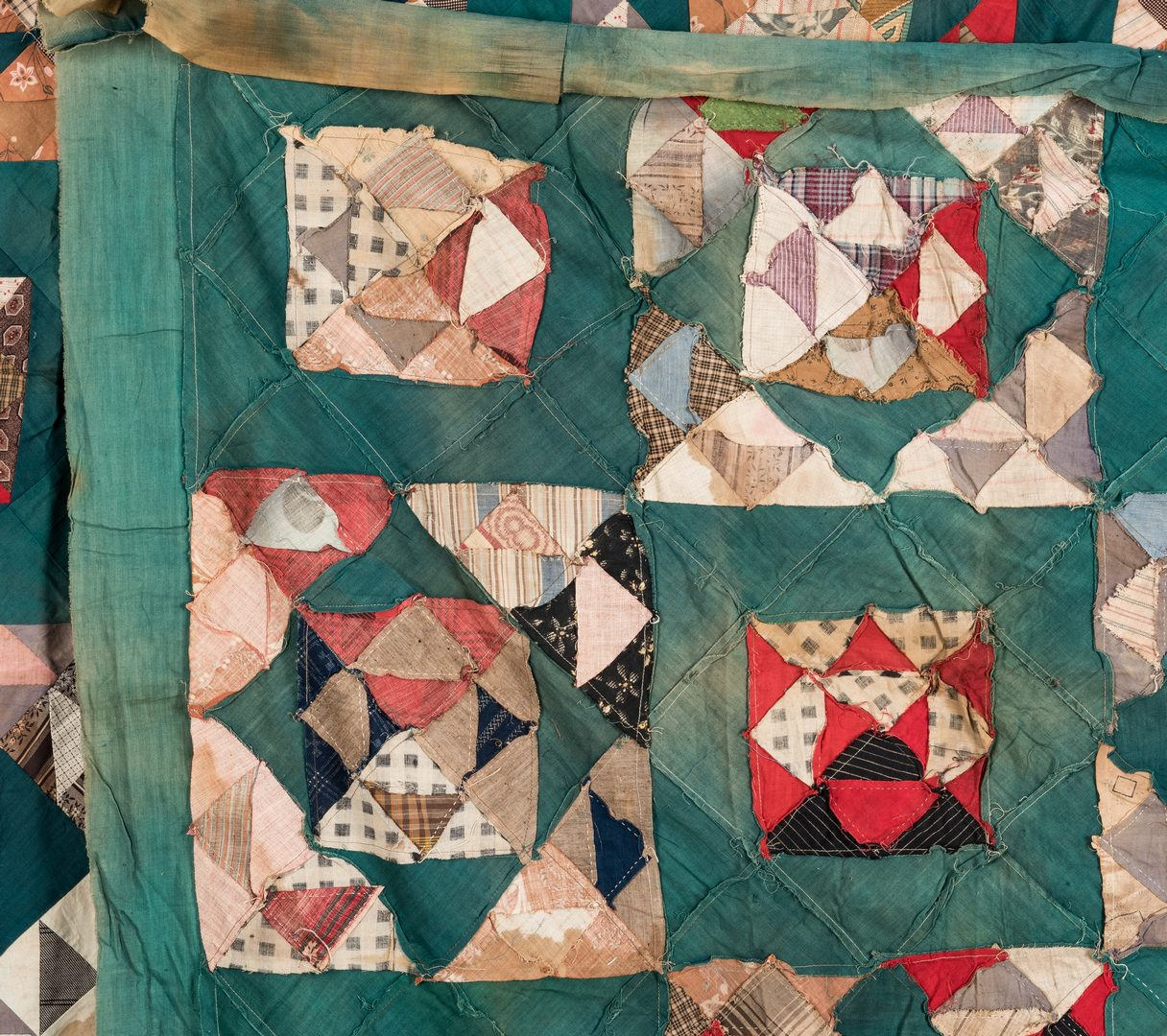 "Lot 594: TN Crazy Quilt, ""From Mammy,"" plus 2 others, c. 1900"