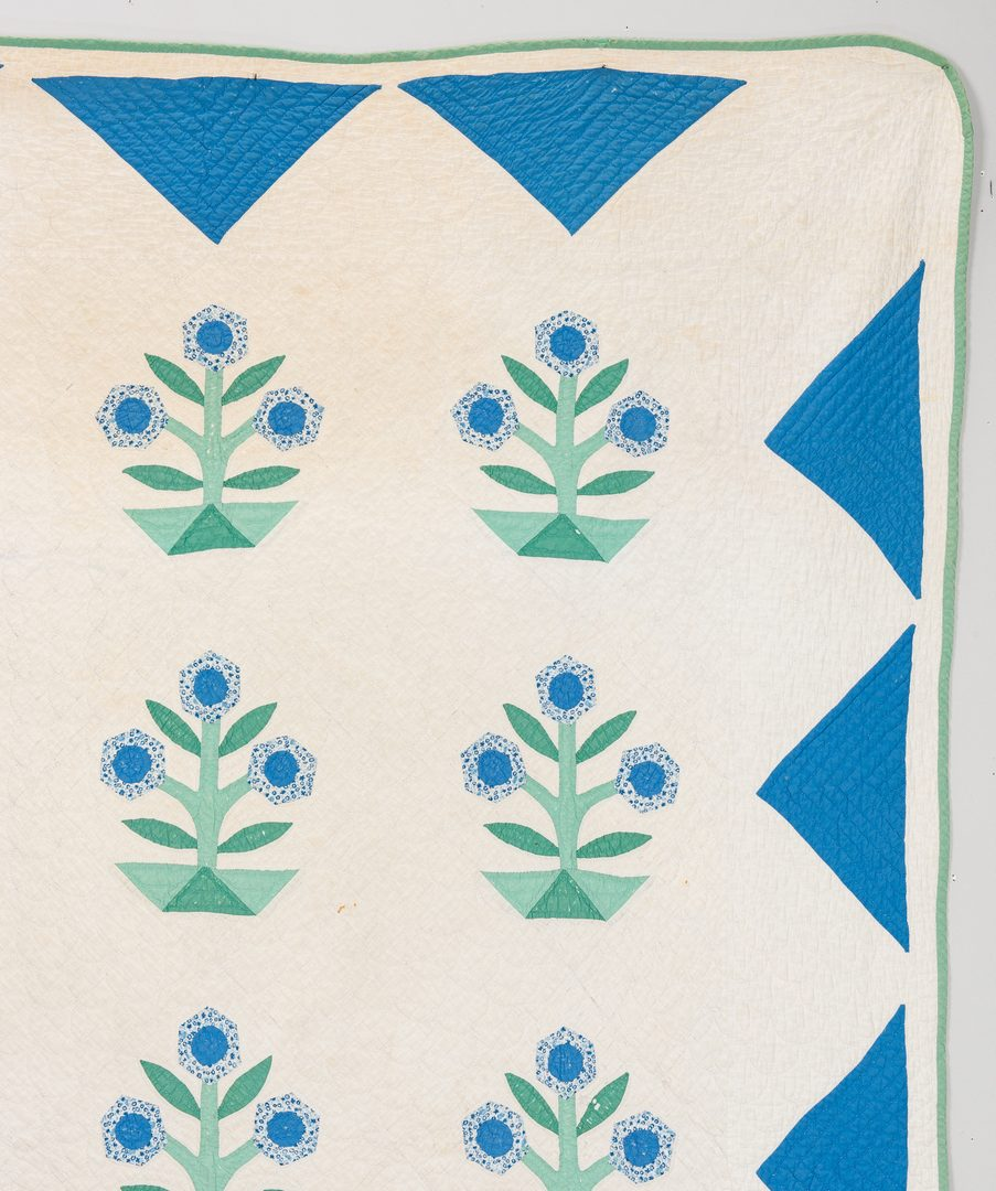 Lot 595: Pr. of East TN Appliqued & Pieced Quilts