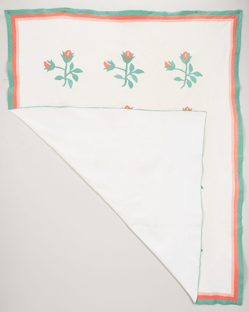 Lot 596: East TN Appliqued & Pieced Quilt