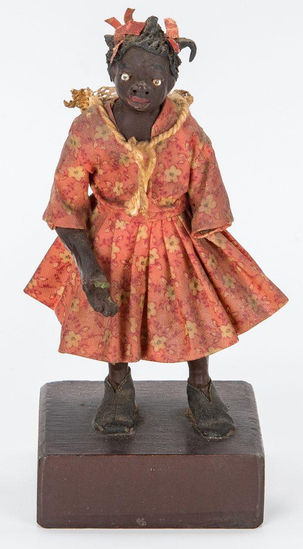 Lot 602: 7 Southern Wax Folk Art Figures, attrib. to Vargas