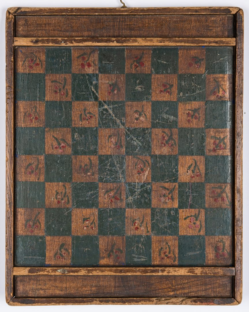 Lot 606: 4 Game Boards, Painted Tiles
