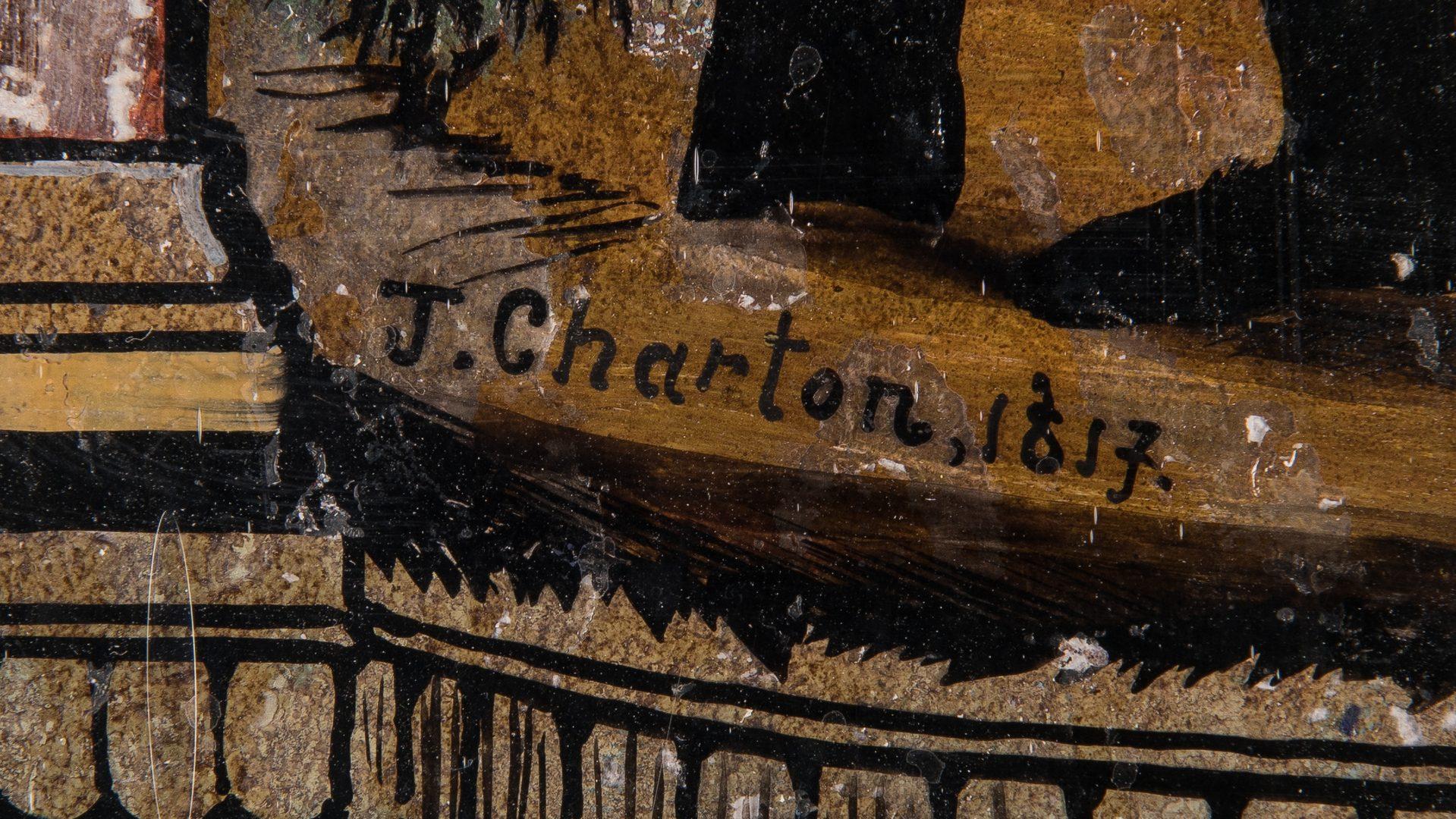 Lot 607: J. Chanton Daniel Boone Reverse Painting on Glass