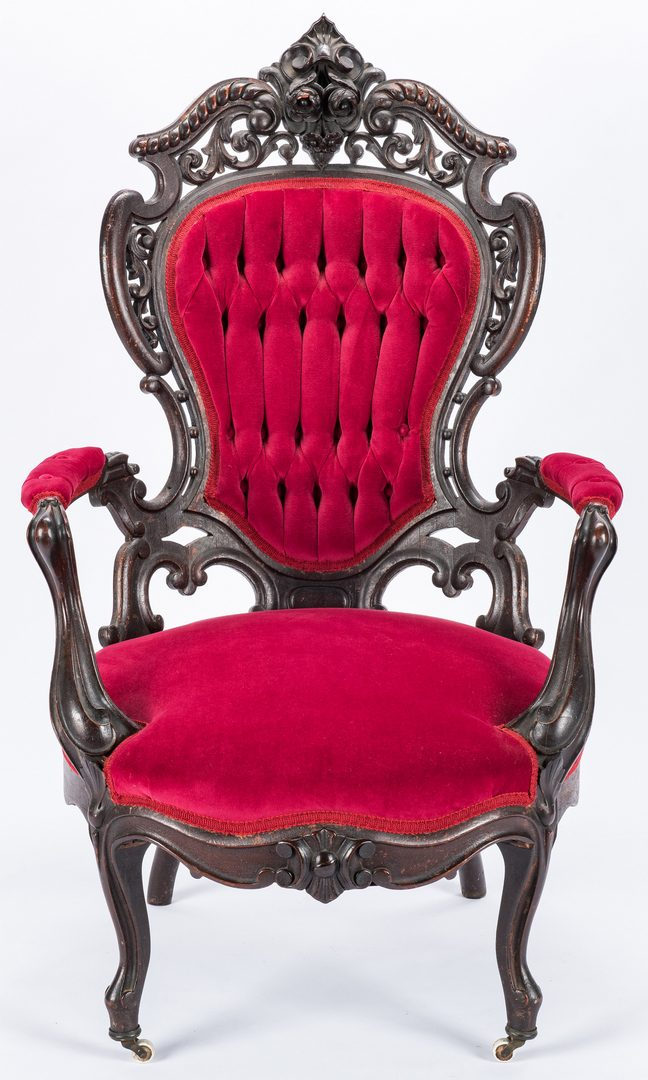 Lot 615: Meeks Rosewood Chair, Stanton Hall Pattern