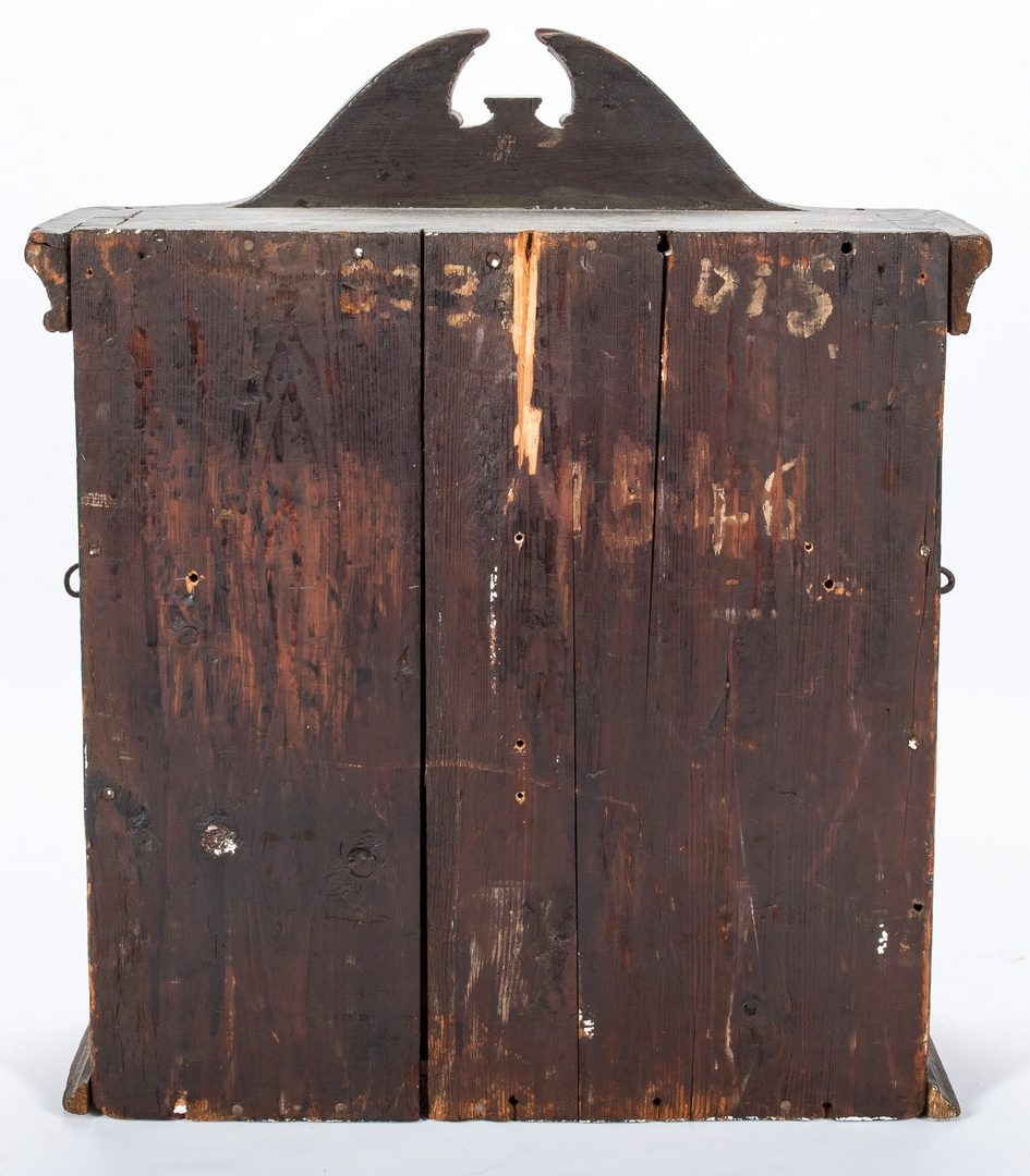 Lot 616: Painted Pine Hanging Cabinet