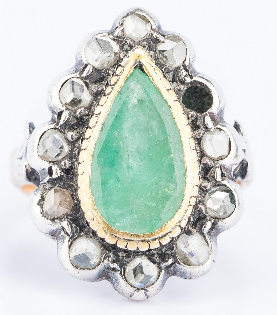 Lot 632: Group 5 Vintage Rings, incl. Emerald