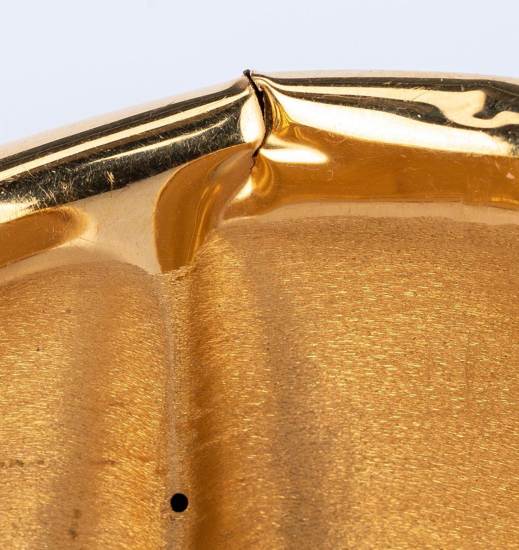 Lot 635: Italian 18K Freeform Cuff Bracelet