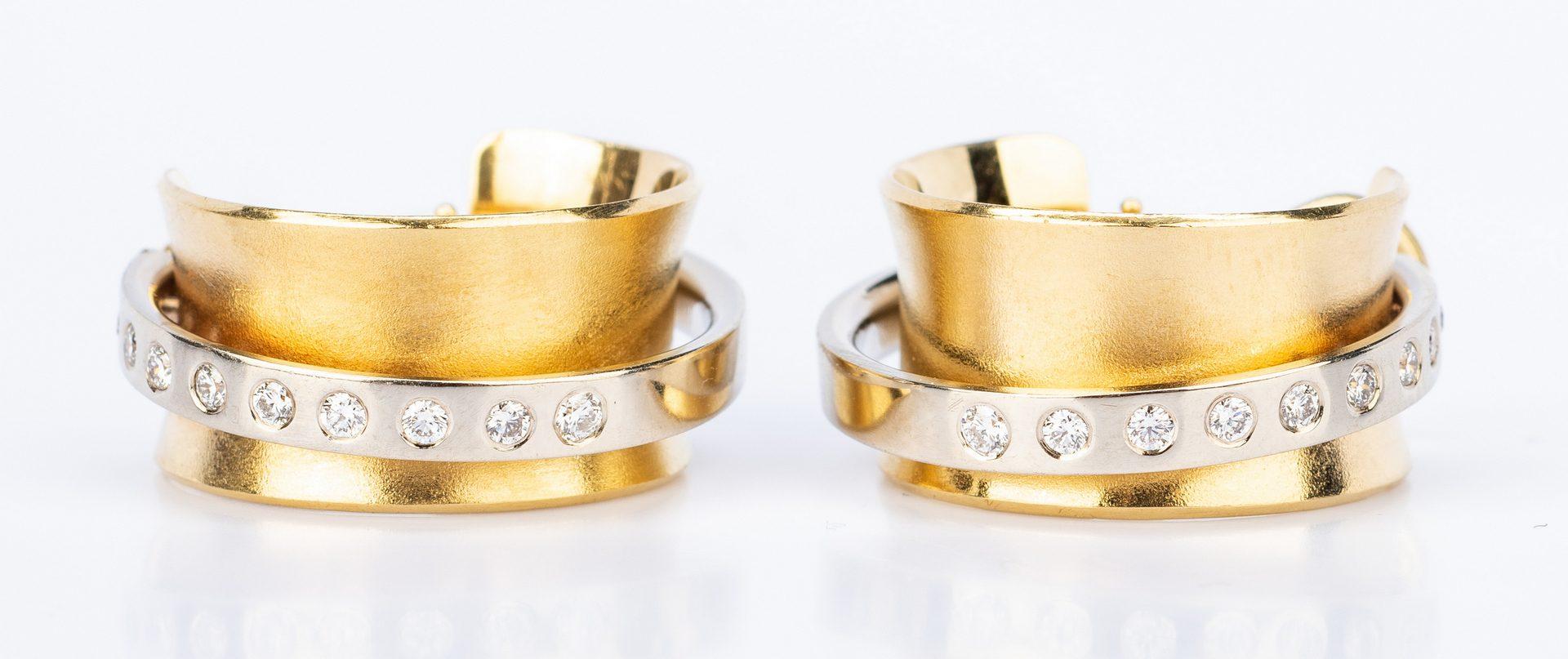 Lot 638: Ofiesh 18k Diamond Orbit Earrings