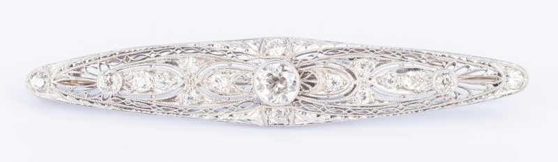 Lot 642: 14k Antique Diamond Brooch/Pendant