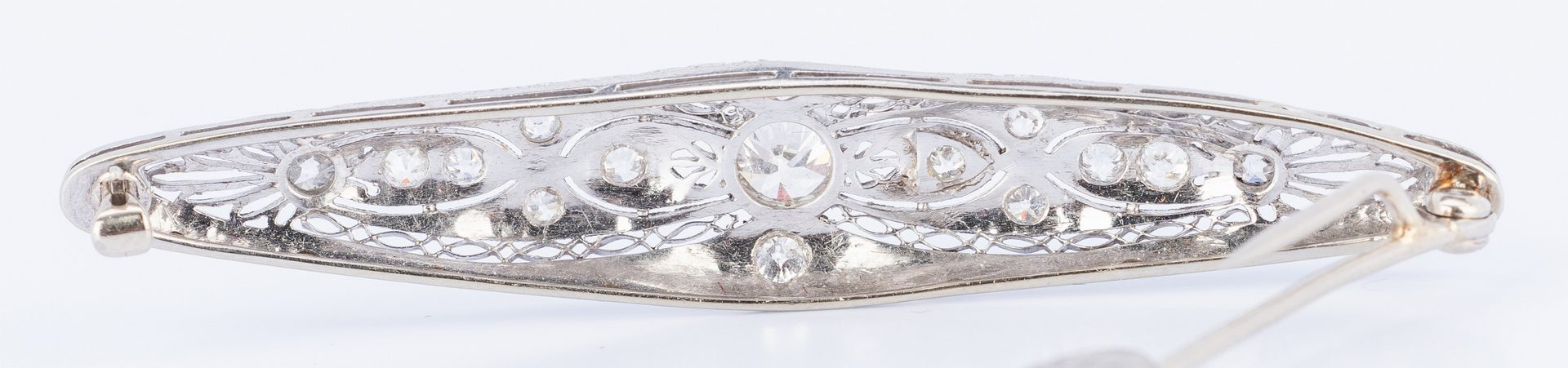 Lot 642: 14k Antique Diamond Brooch/Pendant