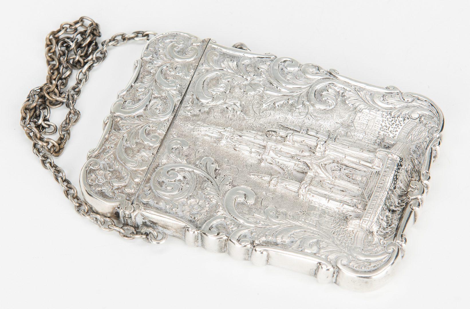 Lot 643: 4 Silver Card Cases & Match Safes