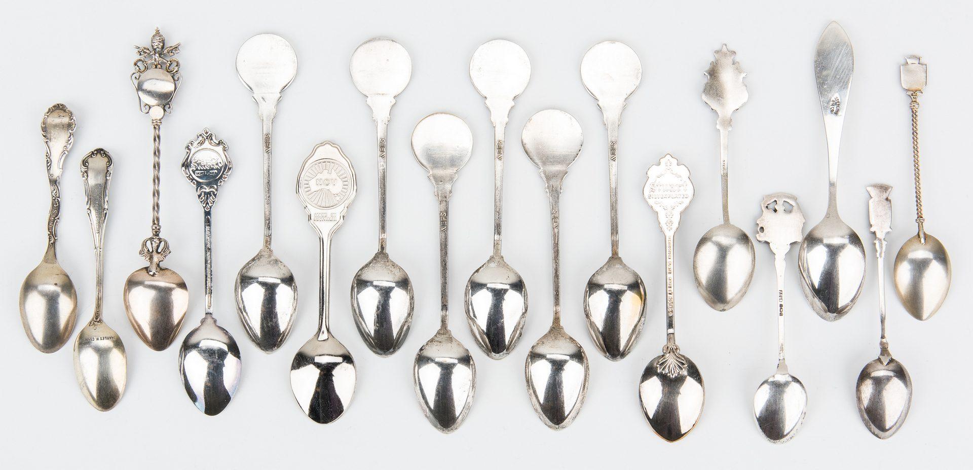 Lot 645: Collection Souvenir Spoons incl. Black Americana