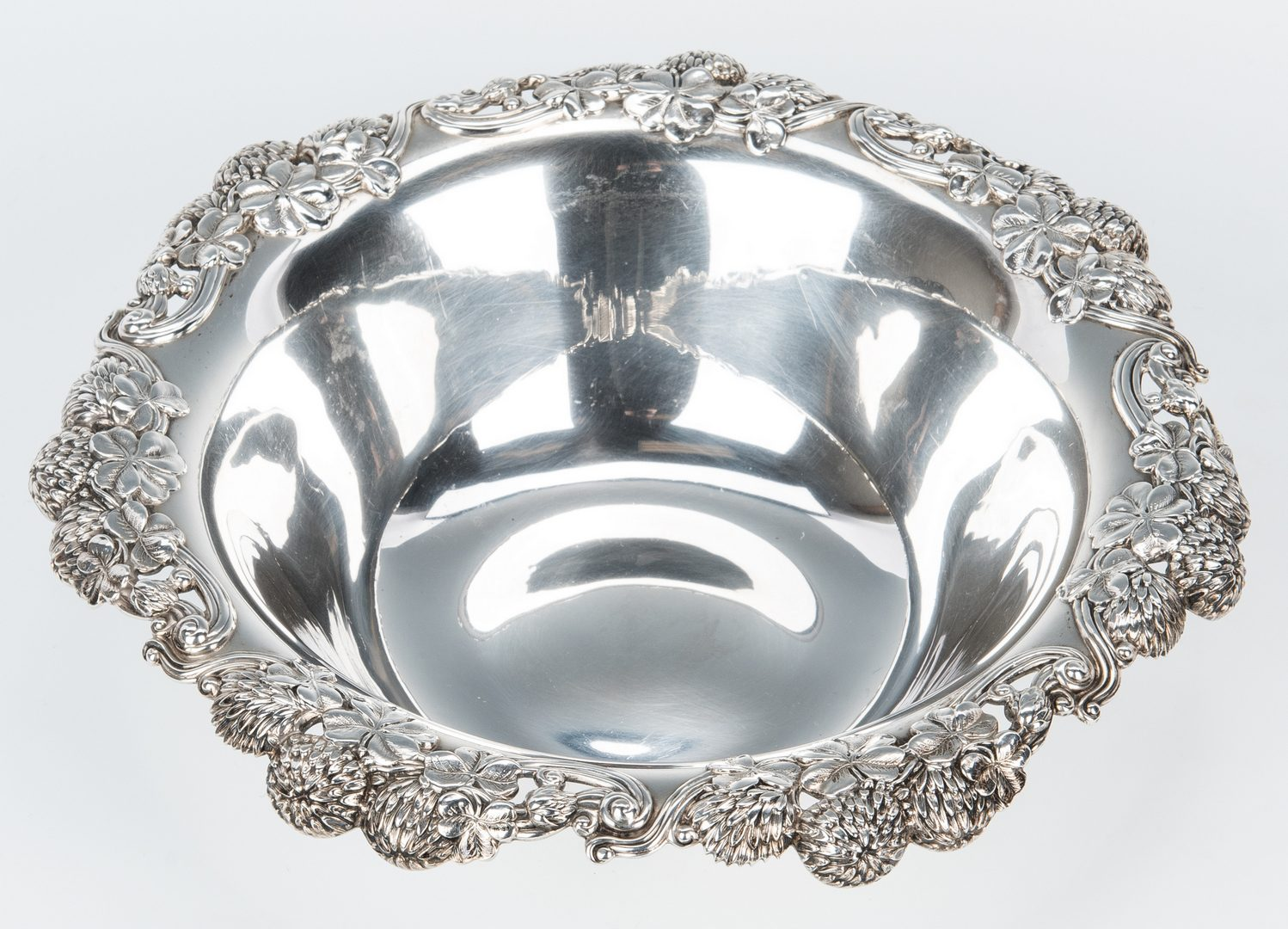 Lot 647: Tiffany Sterling Silver Bowl and Trumpet Vase