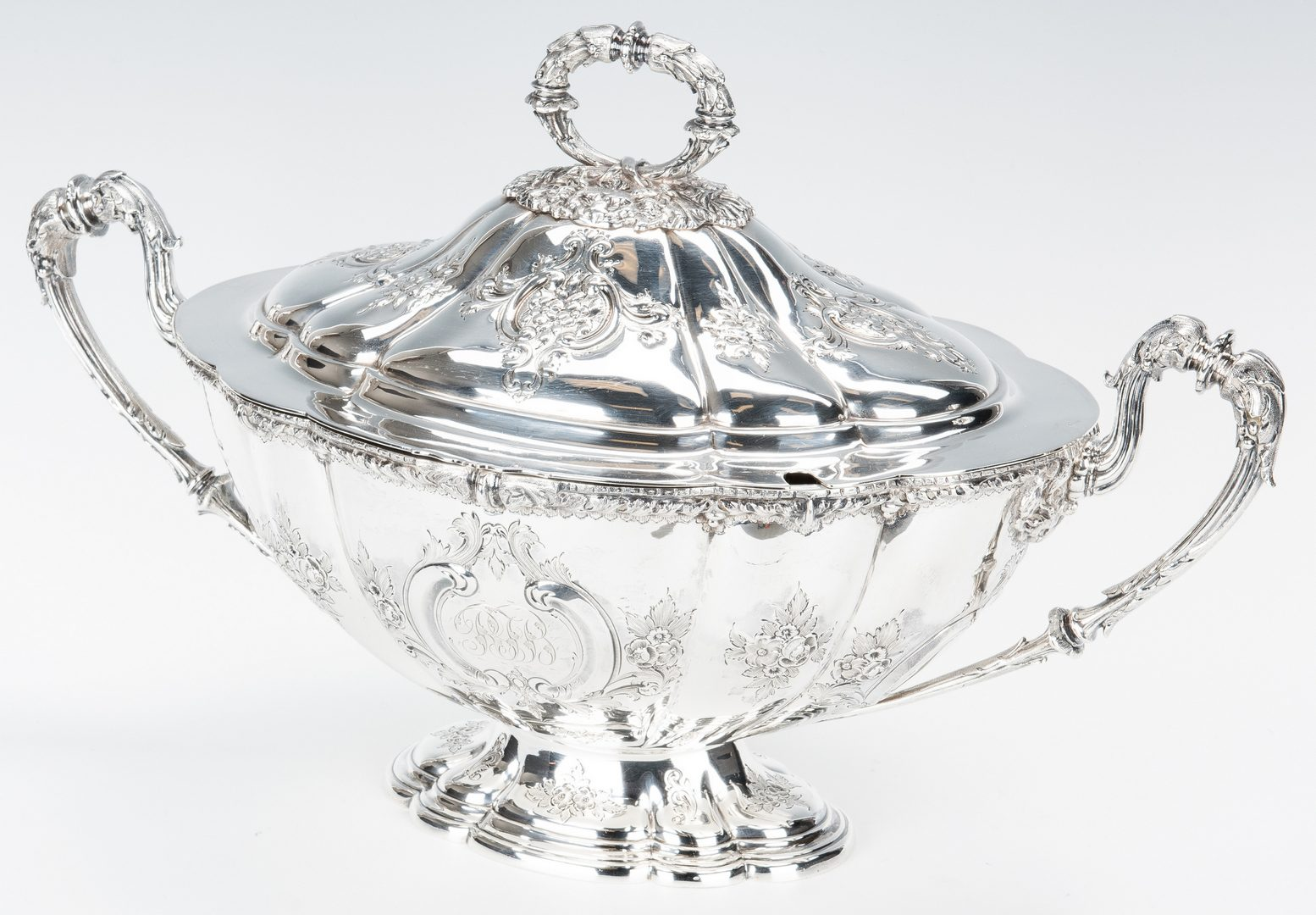 Lot 64: Edwardian Sterling Covered Tureen with s/p underplate