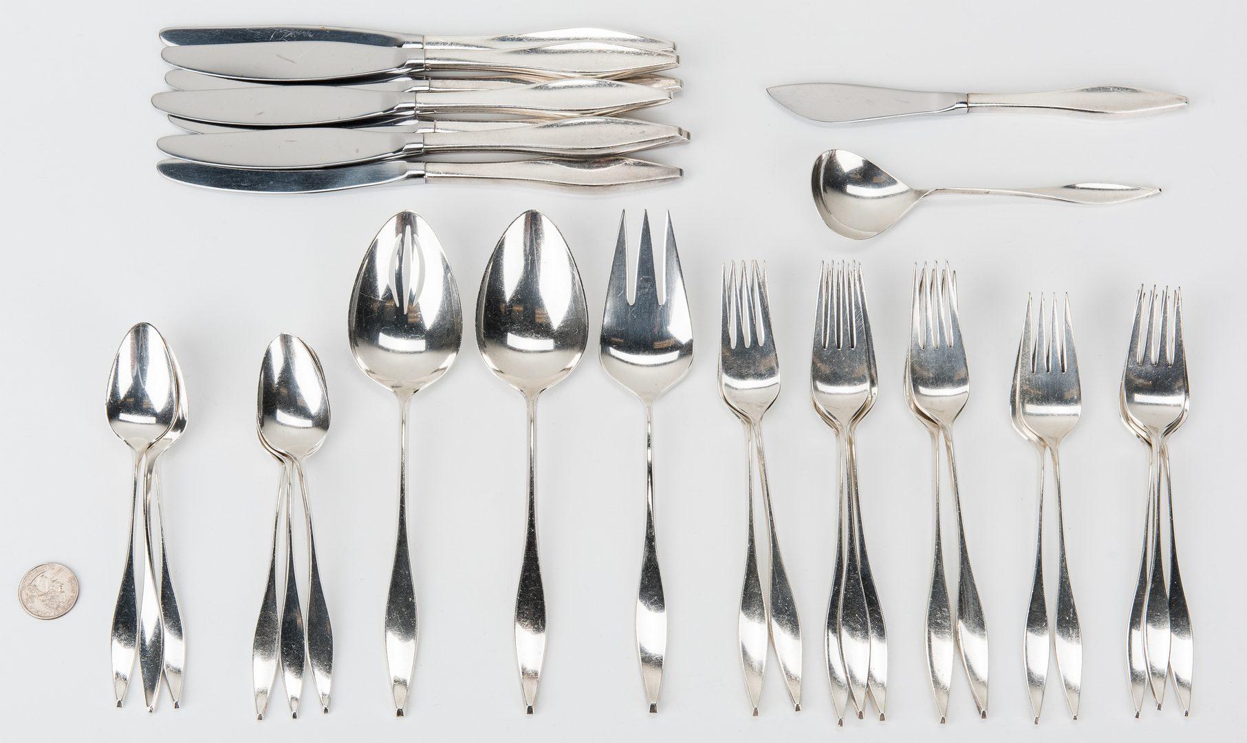 Lot 655: 30 pcs. Reed & Barton Lark Pattern Sterling Silver Flatware