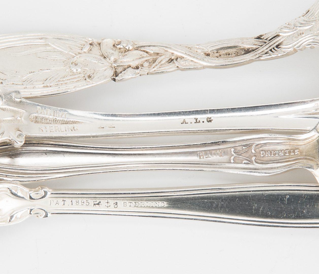 Lot 658: 82 pcs. British & American Sterling Flatware